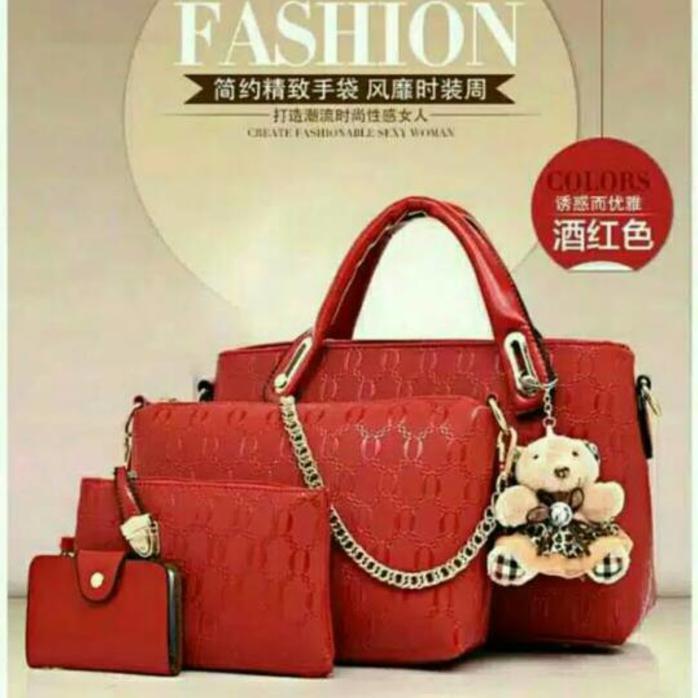 Stok Terbatas!! Promo Banting Harga!!Tas Import Murah 4In1 Best Seller  Banget  9c928e11b2