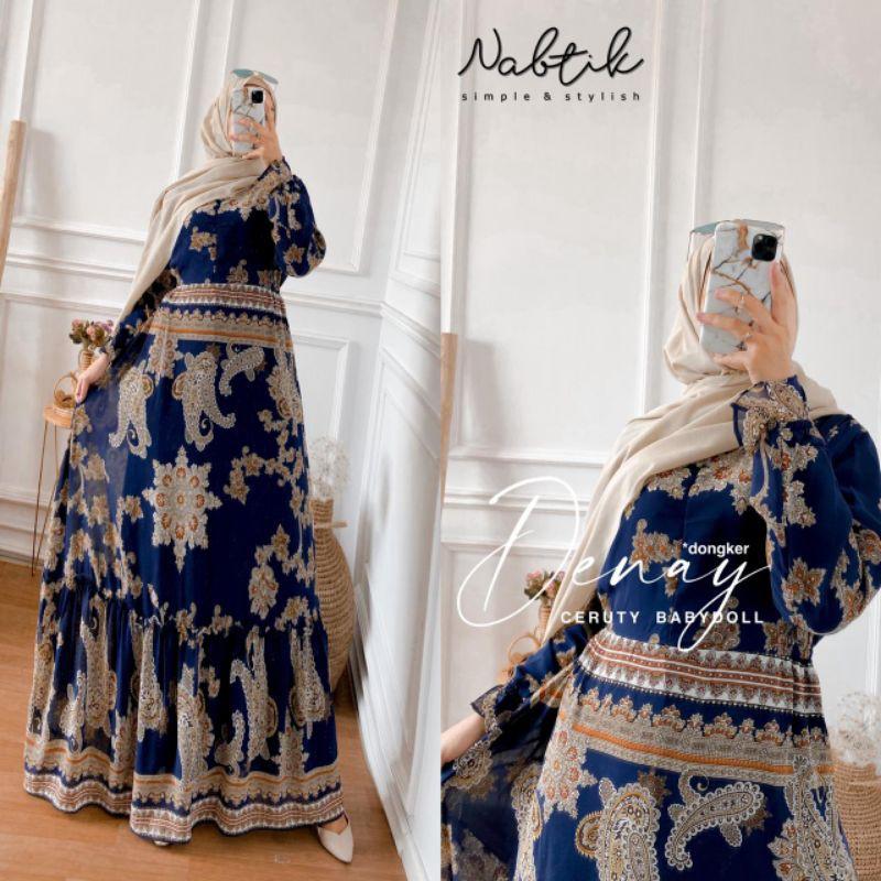gamis wanita terbaru original by nabtik denay motif batik termurah