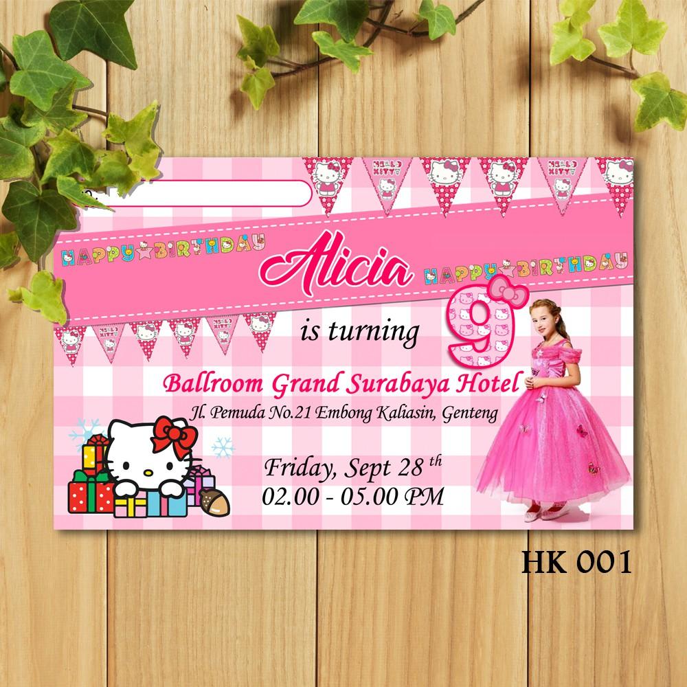 Desain Undangan Ulang Tahun Hello Kitty - membuat kartu ucapan