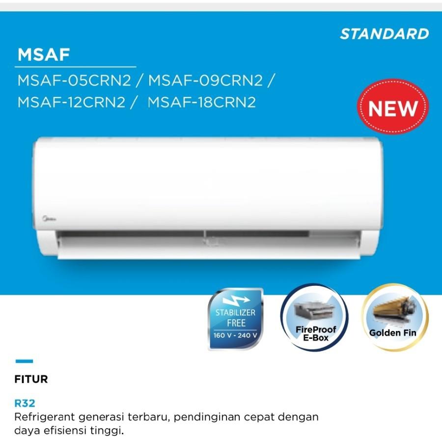 AC Midea MSAF05CRN2 / AC Midea 0.5PK MSAF-05CRN2 R32