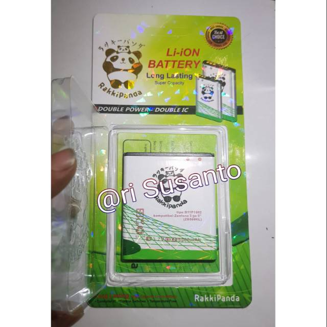 Baterai Rakkipanda B11P1510 for Asus Zenfone 3 Go 5.5 Inch ZE552KL Double Power 6000mAh | Shopee