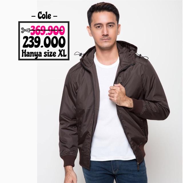 Jaket Pria Micro Rib - Cokelat  3e51098c56