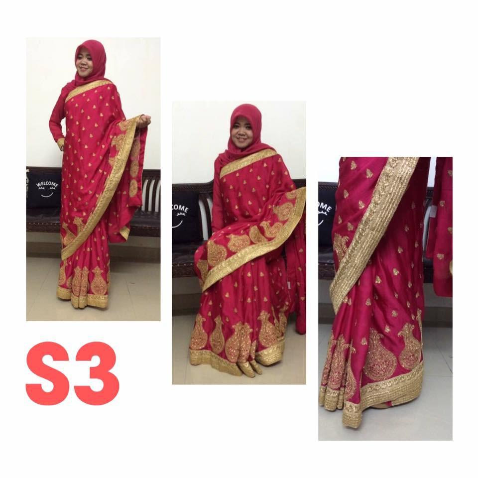 Pakaian Sari India Siap Pakai / Saree India / Baju India / Baju Saree Ready  Made / Saree Siap Pakai