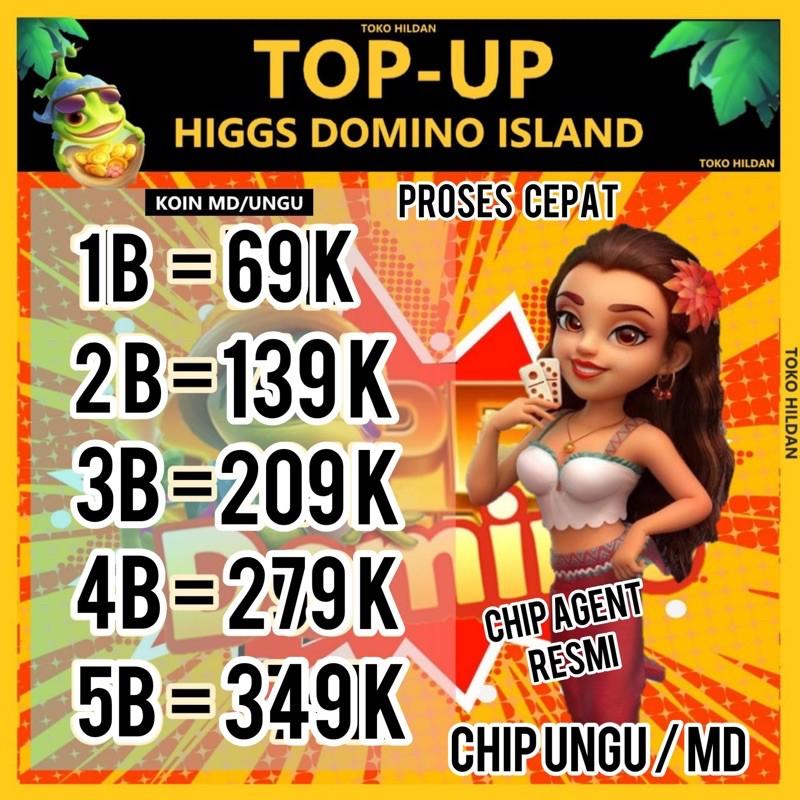 CHIP MD/UNGU 1B-5B KOIN DOMINO HIGGS PROMO