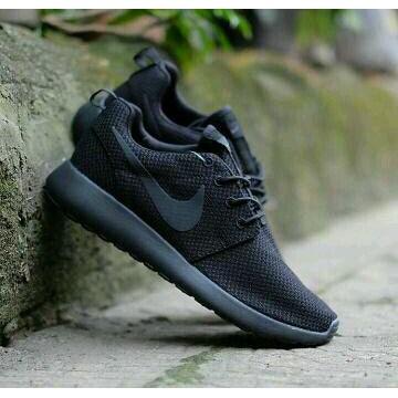 Sepatu Sekolah Nike Rosherun Full Hitam Cewek Cowok Murah Grade