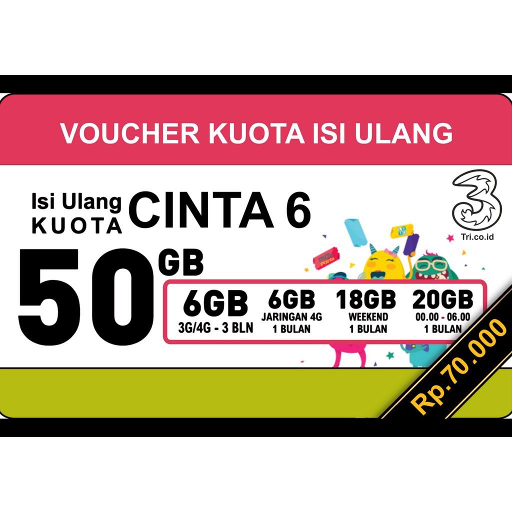 Jual Super Perdana Tri Aon Kuota 6gb Reg 3 Three Kartu Internet 6 Gb Isi Ulang Cinta Up To 50gb Shopee Indonesia