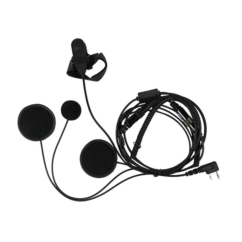D Earpiece Headset Mic For Kenwood Radio TK-2200L TK-2202L TK-3200L TH-D7 TH-D7A