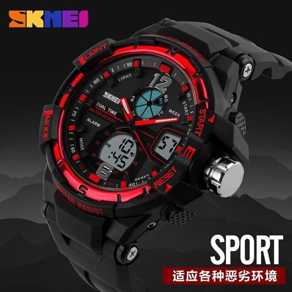 Jam Tangan Pria Original SKMEI 1016   AD1016 Dual Time Water Resist   Anti  Air 50M  6dad3d60b8