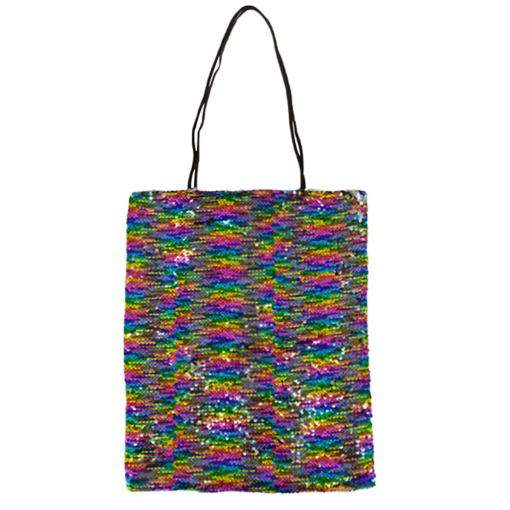 Tote Bag for Women Girl On Sale Sequins Chain Colorful Shoulder Bags Travel Princess Bling Handle Bag