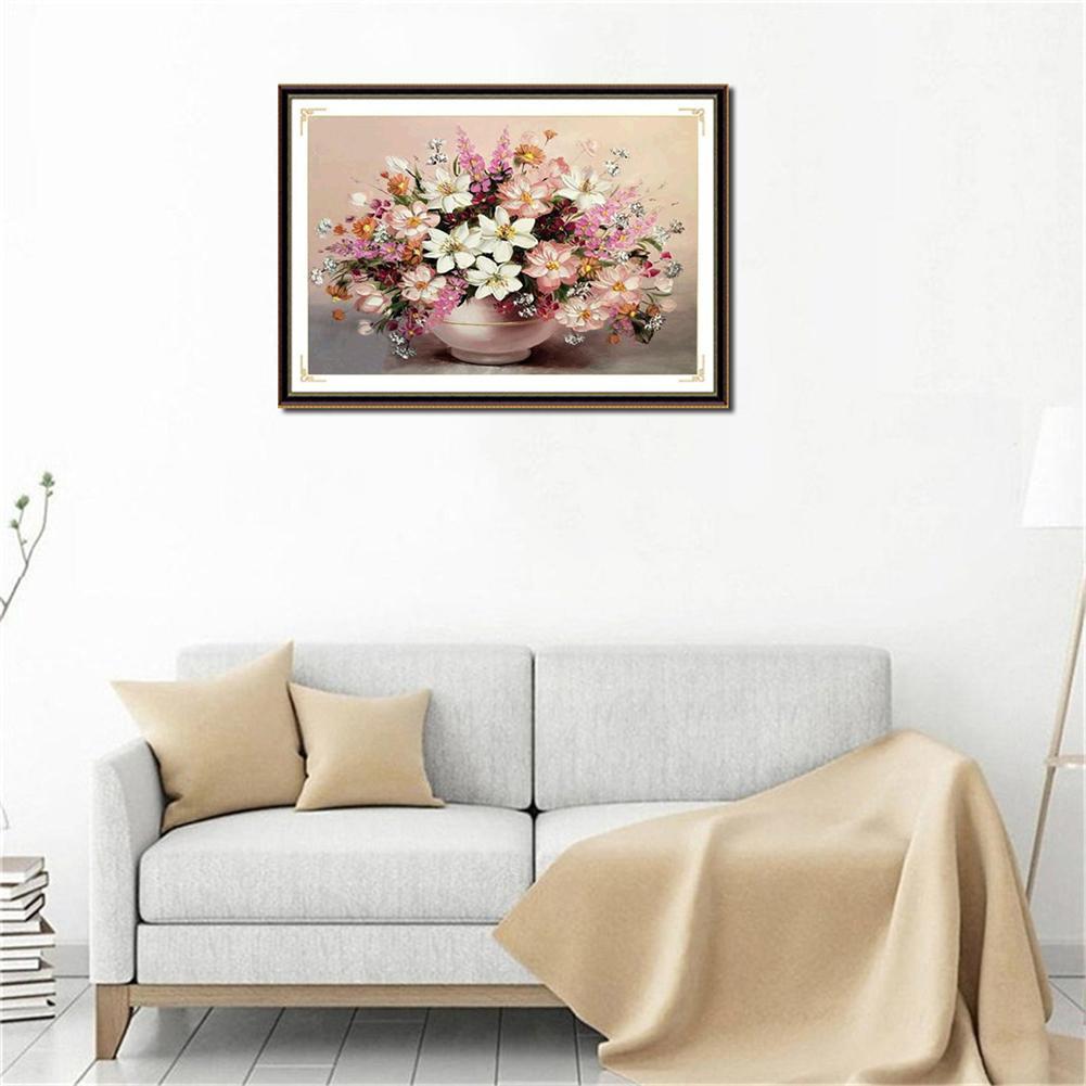 DIY Lukisan Diamond 5D Dengan Gambar Vas Bunga Ukuran 2 8 Mm Untuk Hiasan Dekorasi Rumah