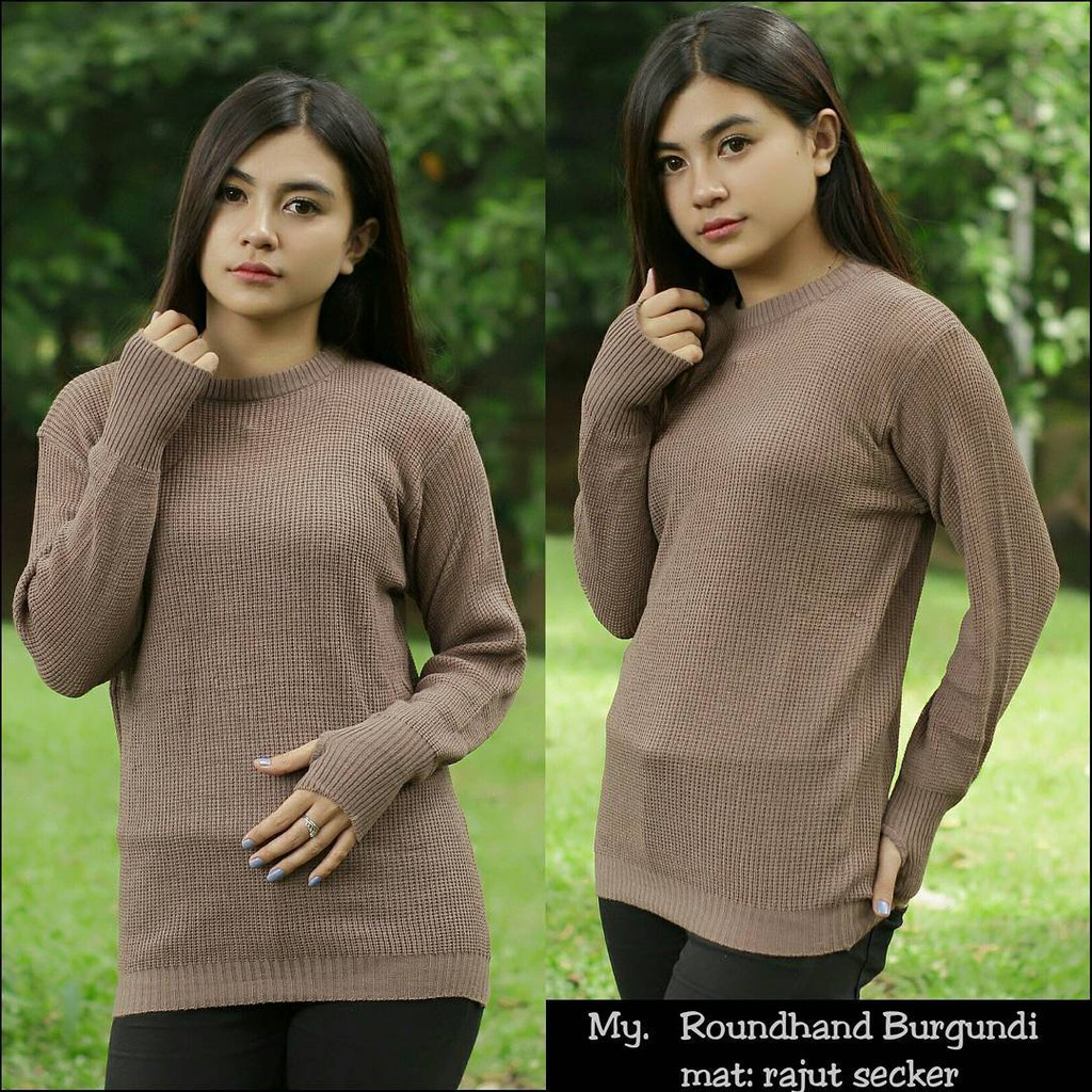 Coutout Knit Coral Rajut Murah Sweater Pakaian Baju Raida Atasan Wanita  Rawis Korea Free Ongkir Shopee Indonesia