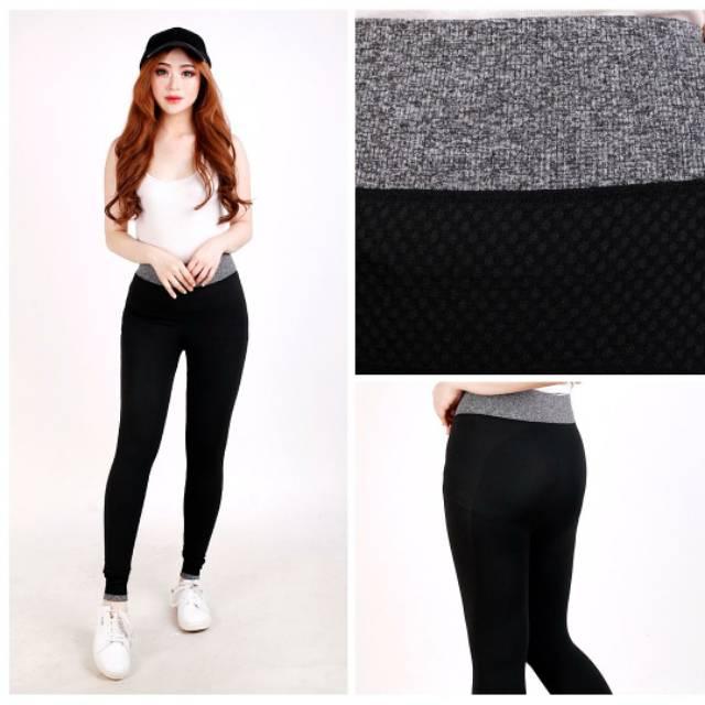 Celana Wanita Celana Legging Celana Panjang Celana Santai Warna Hitam Shopee Indonesia