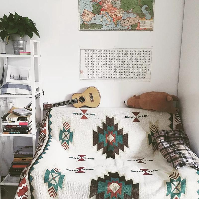 Geometric Tribal Ethnic Aztec Navajo Blanket Throw Rugs Mat Sofa Art Bohemian Uk