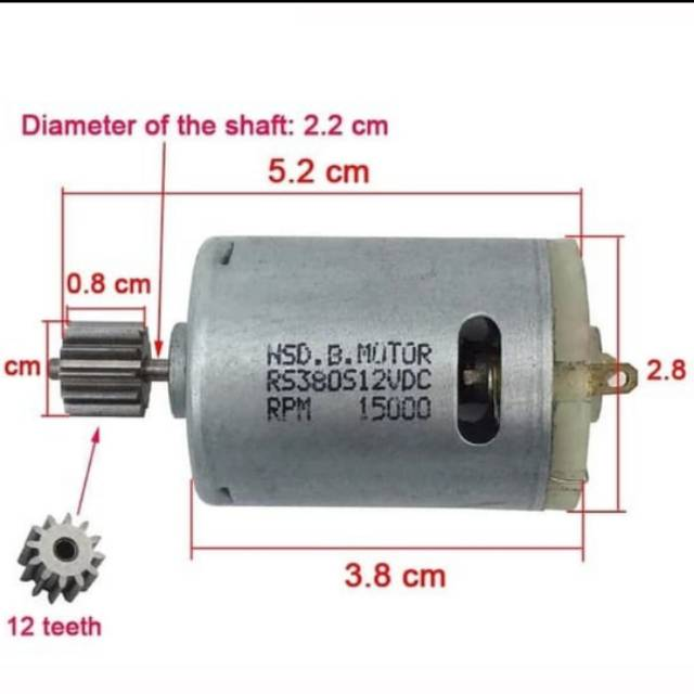 Dinamo motor rs380 sf380 380 6V 12V