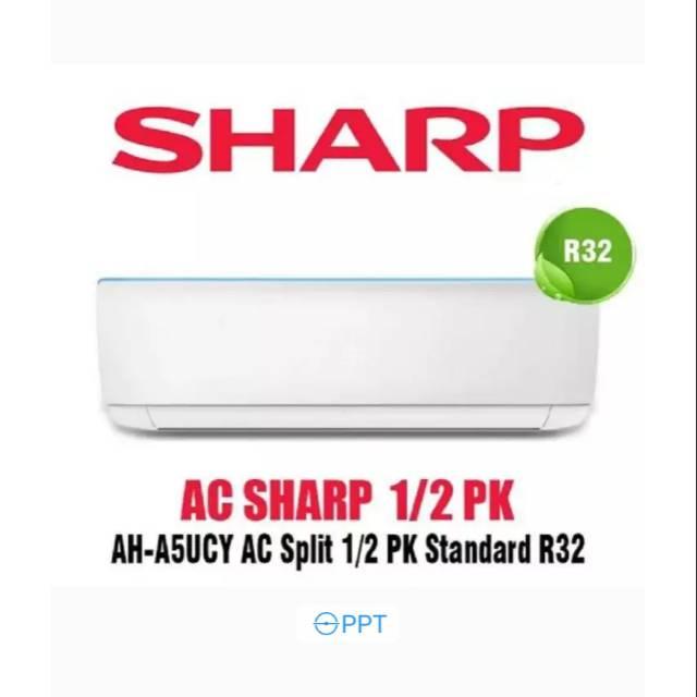 Ac Sharp 1 2 Pk Ah A5ucy Turbo Cool Series R32 0 5pk Garansi 10 Tahun