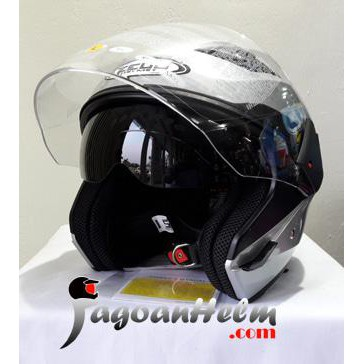 Zeus Helm Zs611 Solid Zs-611 Import Zs 611 Double Visor | Shopee Indonesia