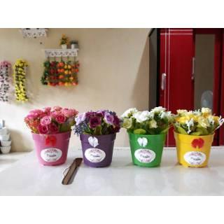 Bunga mini artificialflowers bunga hias bunga mawar plastik home decor shabby  chic dekorasi dinding 5faa32feb8
