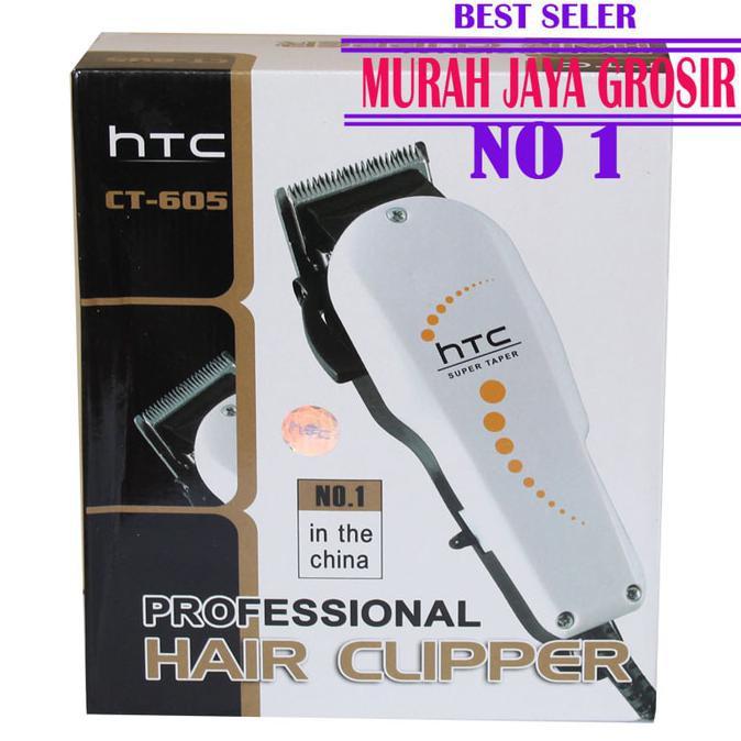 HTC 605 Hair clipper alat cukur rambut profesional alat cukur   Shopee Indonesia