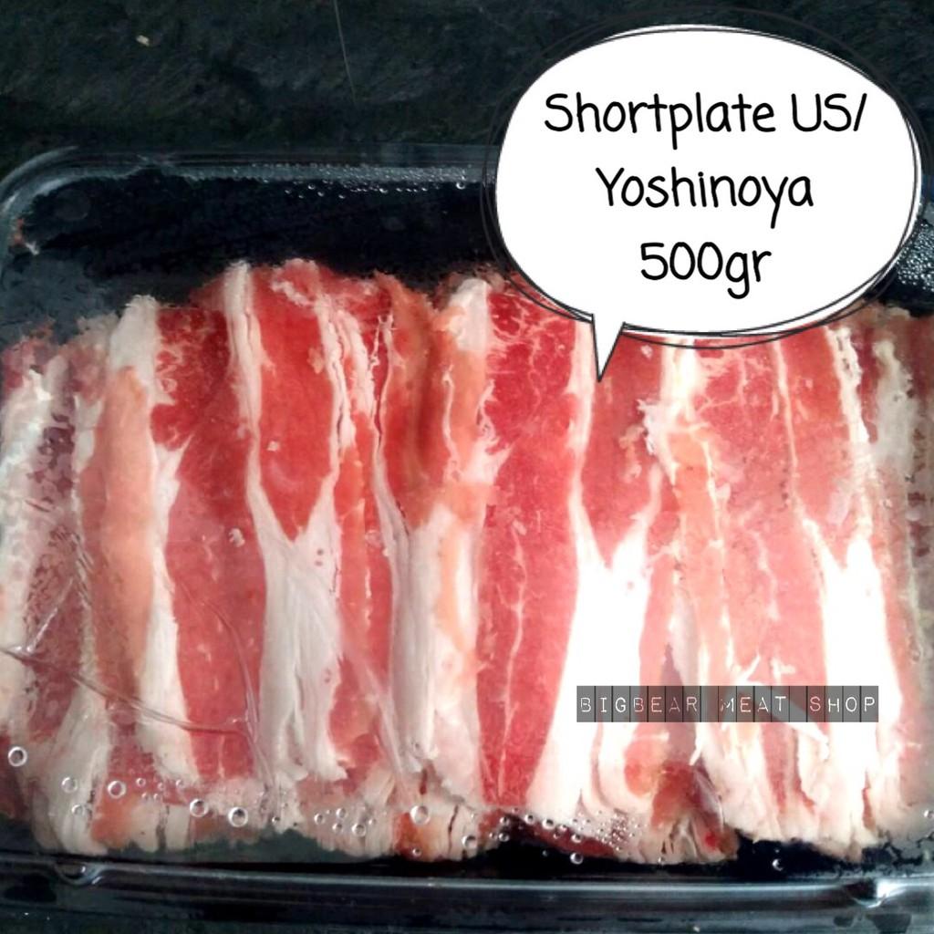 SHORTPLATE / DAGING YOSHINOYA USA 500 GR