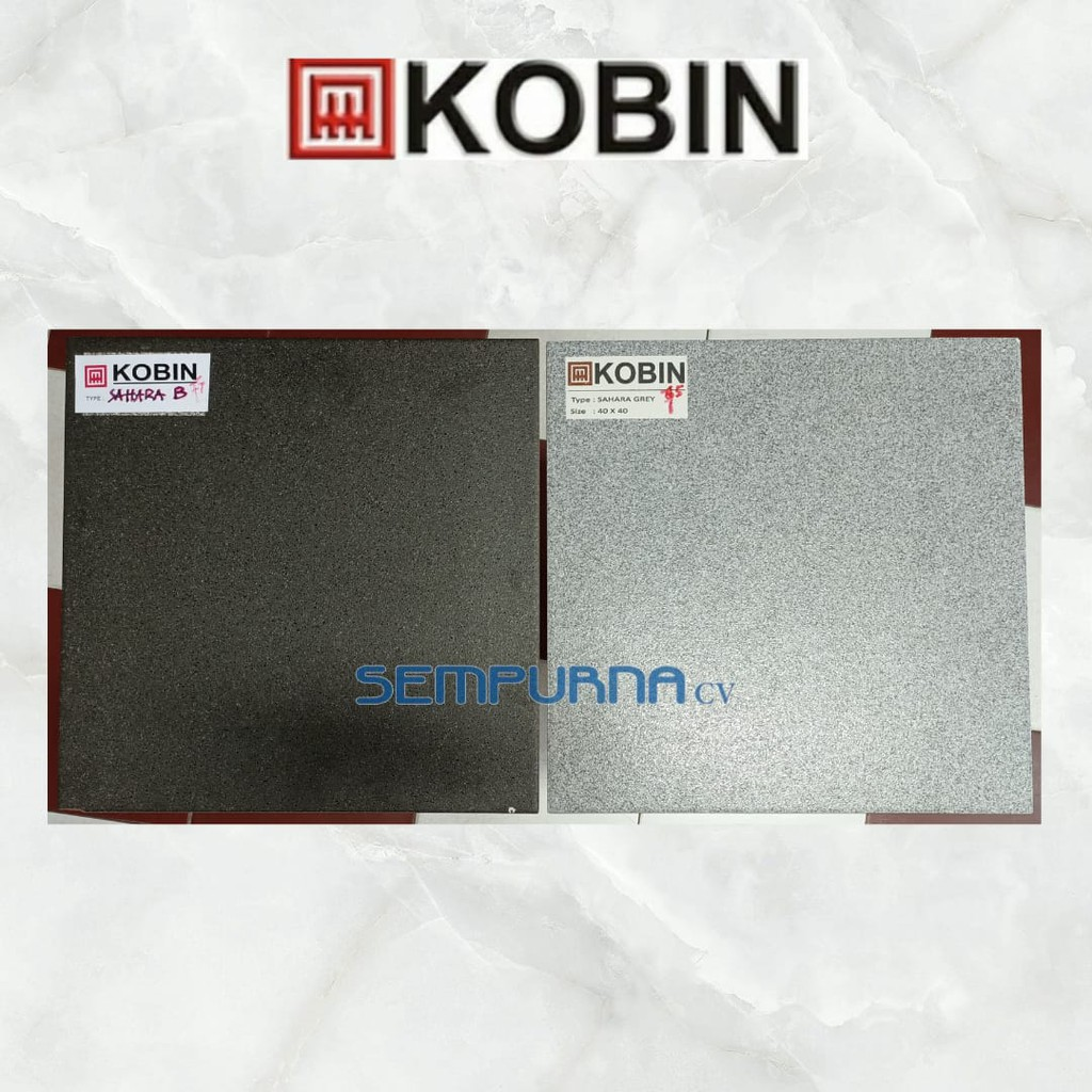 Keramik lantai kasar 40x40 Kobin Sahara Black Grey