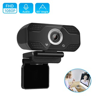 Webcam Hd 1080p 85° Wide Angle 2mp 1920x1080p Dengan Mikrofon Untuk Komputer Pc/Laptop