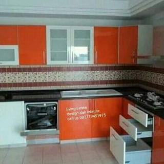 Kitchen Set Aluminium Kaca Acp Zahrashop55 Shopee Indonesia