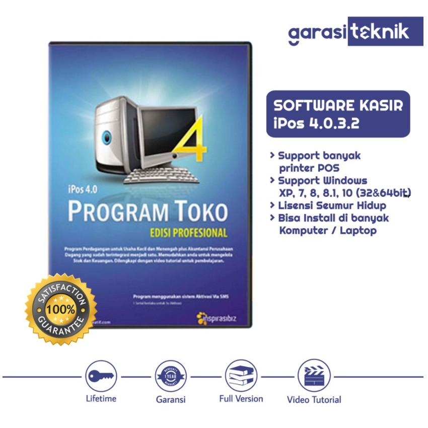 PROGRAM KASIR TOKO IPOS 4 TERBARU SOFTWARE ALL PC APLIKASI FULL VERSION LIFETIME GARANSI