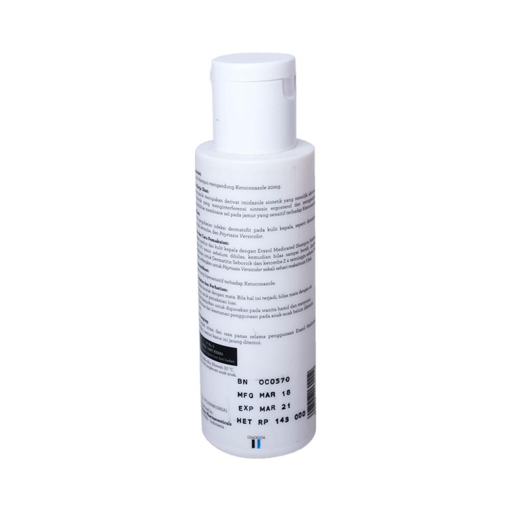 ERHA Erazol Shampoo 100 ml - Sampoo Khusus Infeksi Jamur Kulit Kepala-1