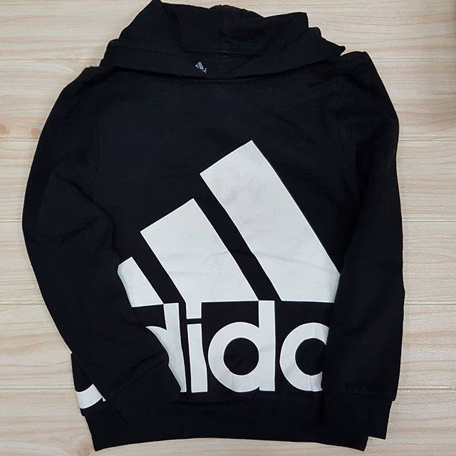 Sweater Hoodie Adidas Black White