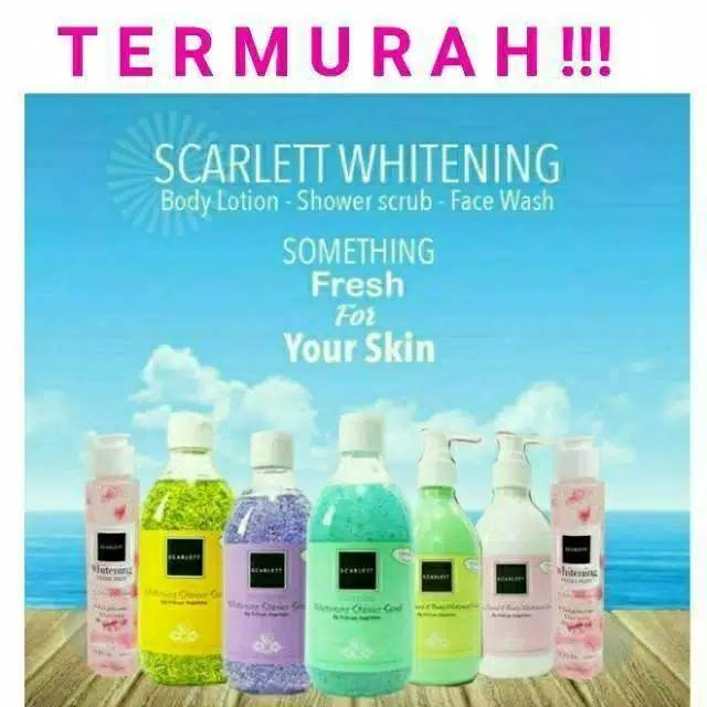 SCARLETT WHITENING SHOWER SCRUB/SCARLETT WHITENING BY FELICYA ANGELISTA | Shopee Indonesia