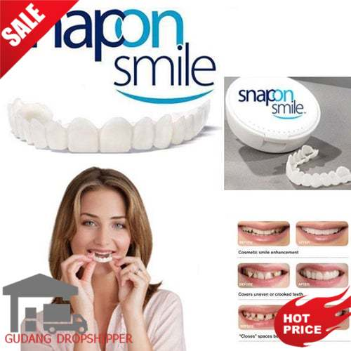 Snap On Smile Authentic / Gigi Palsu Snapon Smile 1 Set Veneer Gigi 1 SET Perfect Smile