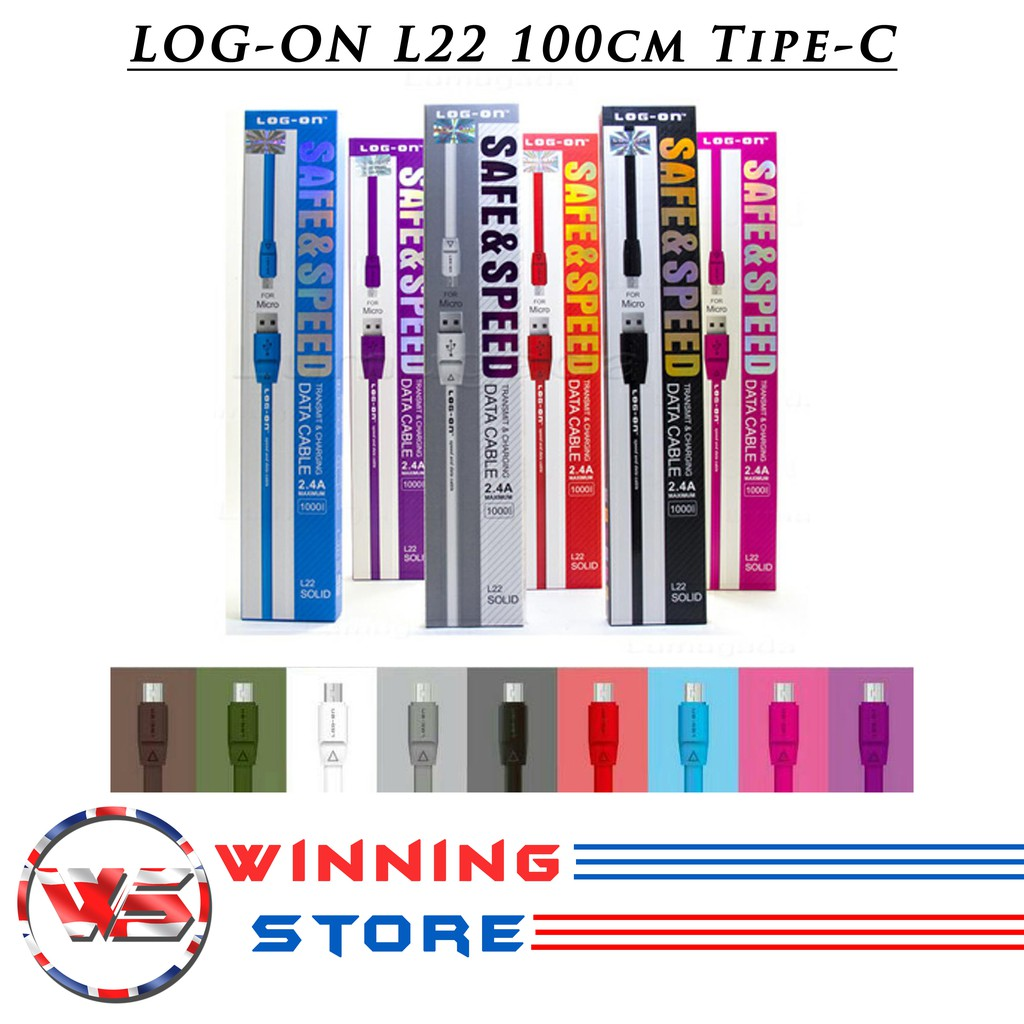 Ws Kabel Data Logon Micro 300 Cm Fast Charging 24a 3 Meter Log On Cable L22 Output Max Iphone 6 100cm Abu Shopee Indonesia