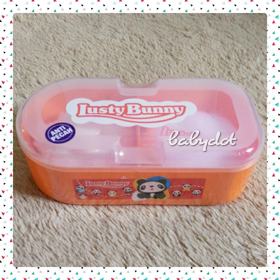 Lusty Bunny Tempat Bedak Bayi Tb 1611 Bulat Orange Daftar Harga Lustybunny Oval Case 1603 Merah Muda All In One Isi 2 1521
