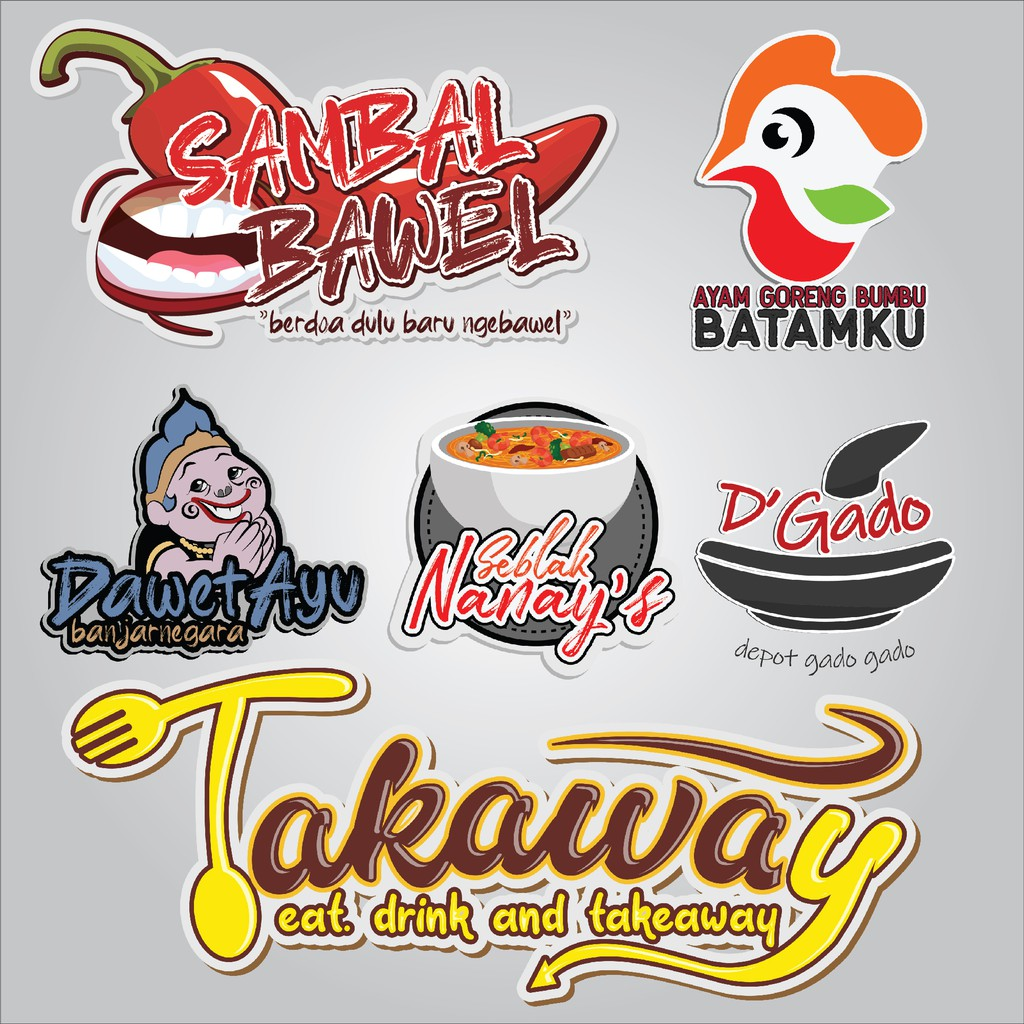 Jasa Desain Logo Produk Makanan Shopee Indonesia