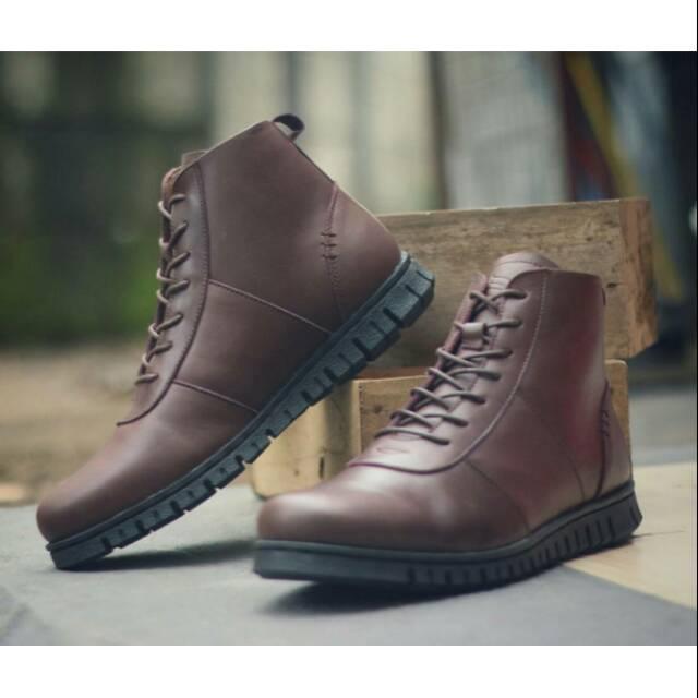 Sepatu pria kulit boots Ori Bradleys Zhapato/ sepatu formal pria/sepatu kulit pria sekelas