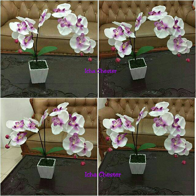 Bunga plastik anggrek plastik bunga murah bunga anggrek anggrek palsu bunga  palsu  74553a864c