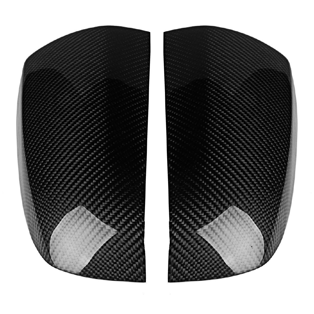 2x Carbon Fiber Door Side Mirror Cover Caps Fit For BMW X5 X6 E70 E71 2008-2013