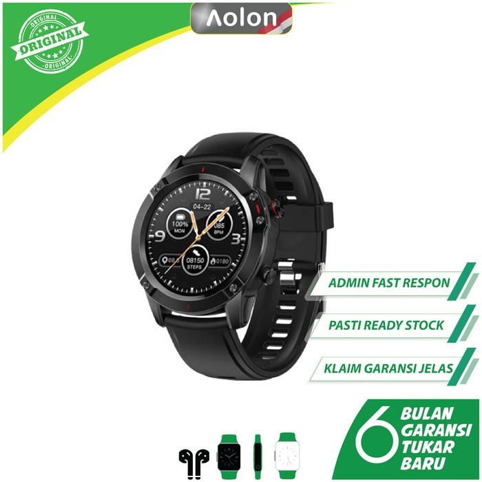 AOLON Smartwatch G20 - IP68, Sporty, Pedometer, Notifikasi Pesan - Hitam