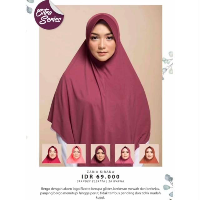 Hijab Bergo Elzatta Zaria Kirana Elzatta Termurah Di Bandung Shopee Indonesia