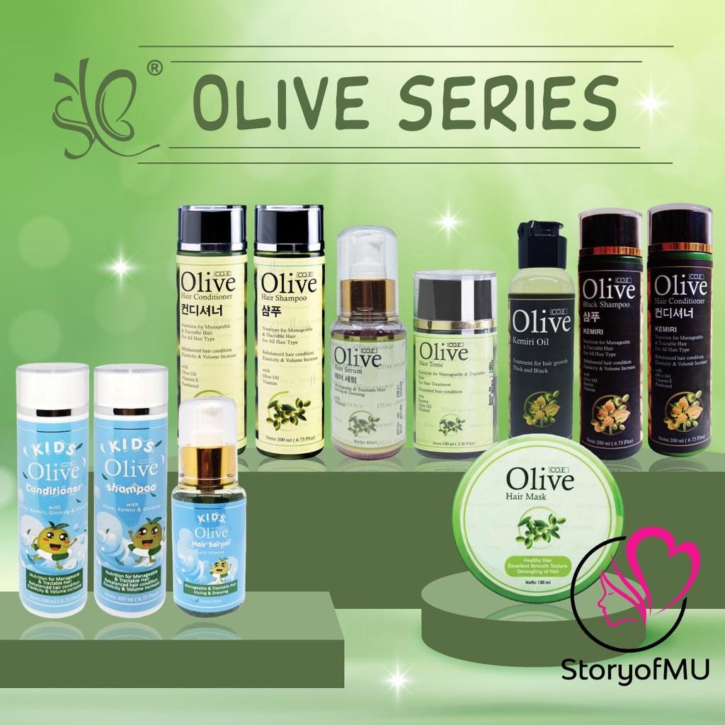 SYB CO.E Olive Hair Treatment - Shampoo Conditioner Tonic Black Kemiri Oil Mask Serum Kids