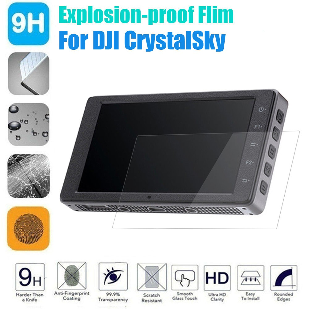 2 Pcs PVC Explosion-proof Full Cover Thin Protective Film For DJI CrystalSky