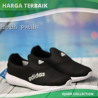 Sepatu Adidas Slip On Pria Wanita Cewe Cowo Laki Perempuan Grade Ori -  Hitam 62a7f0b353