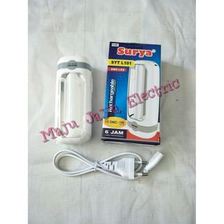 Senter Lampu Darurat Surya SYT L101 Emergency Lamp 10 SMD Super LED Putih | Shopee Indonesia
