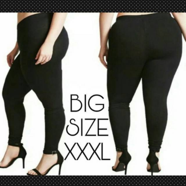 Celana Legging Spandek Jumbo Xxxl Fit To 4l Celana Jumbo Hitam Bahan Spandek Shopee Indonesia