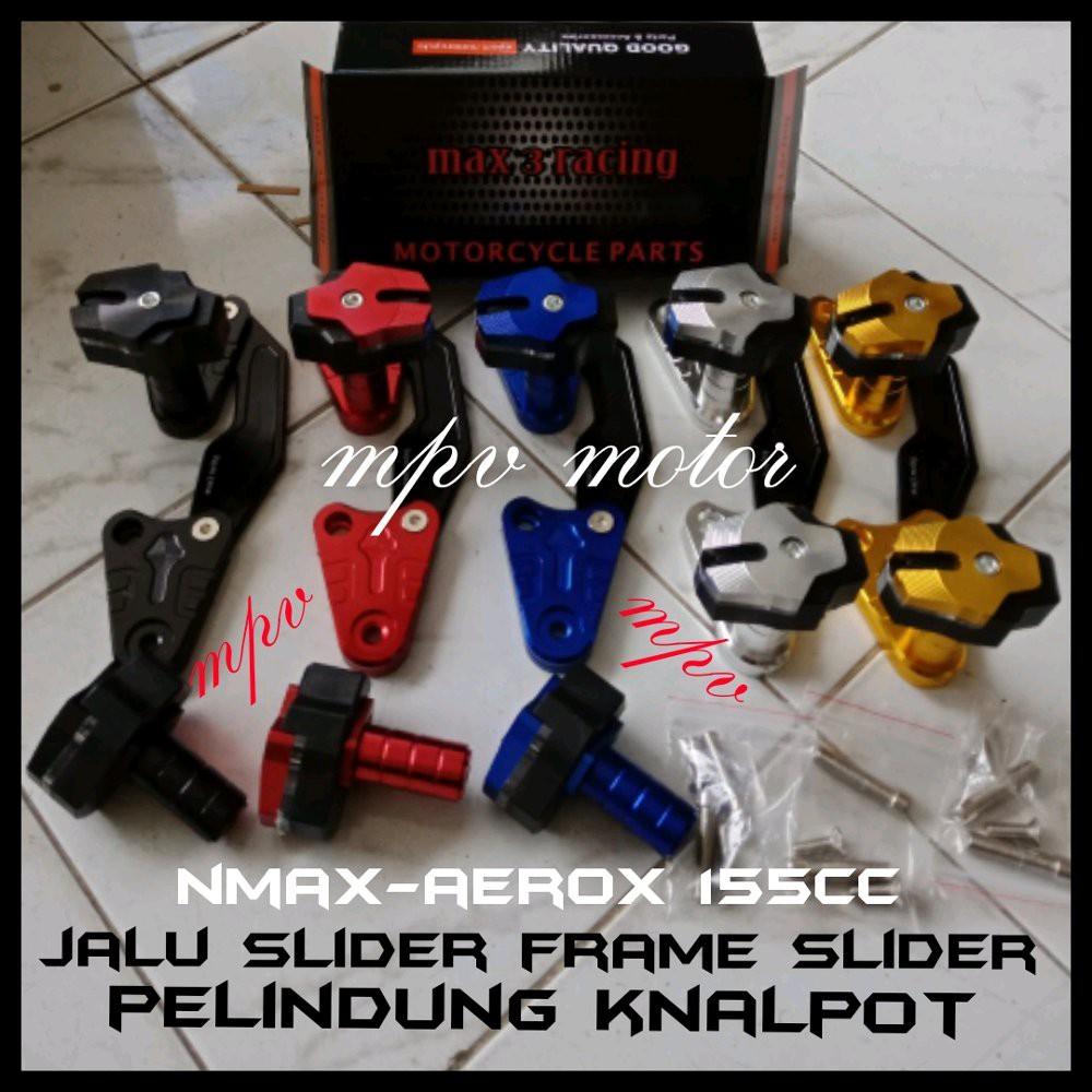 Jual Pelindung Knalpot Yamaha Nmax Aerox 155 Fastbikes Frame Slider Jalu Full CNC Diskon | Shopee Indonesia