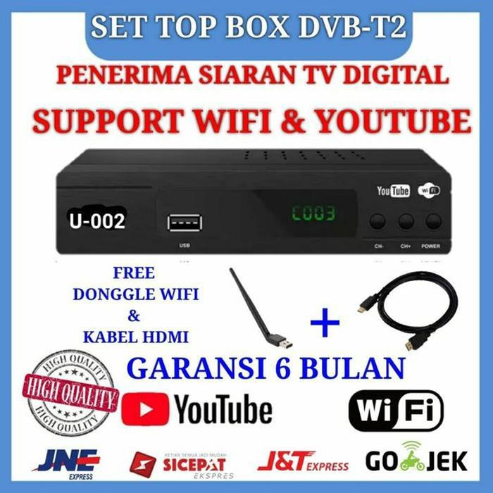 EZ-BOX Set Top Box DVB-T2 Terbaru Kualitas Top Harga Termurah ,Garansi 6 Bulan