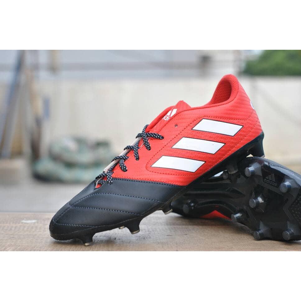 Terkeren Sepatu Bola Adidas Ace Grade Ori Black Red Shopee