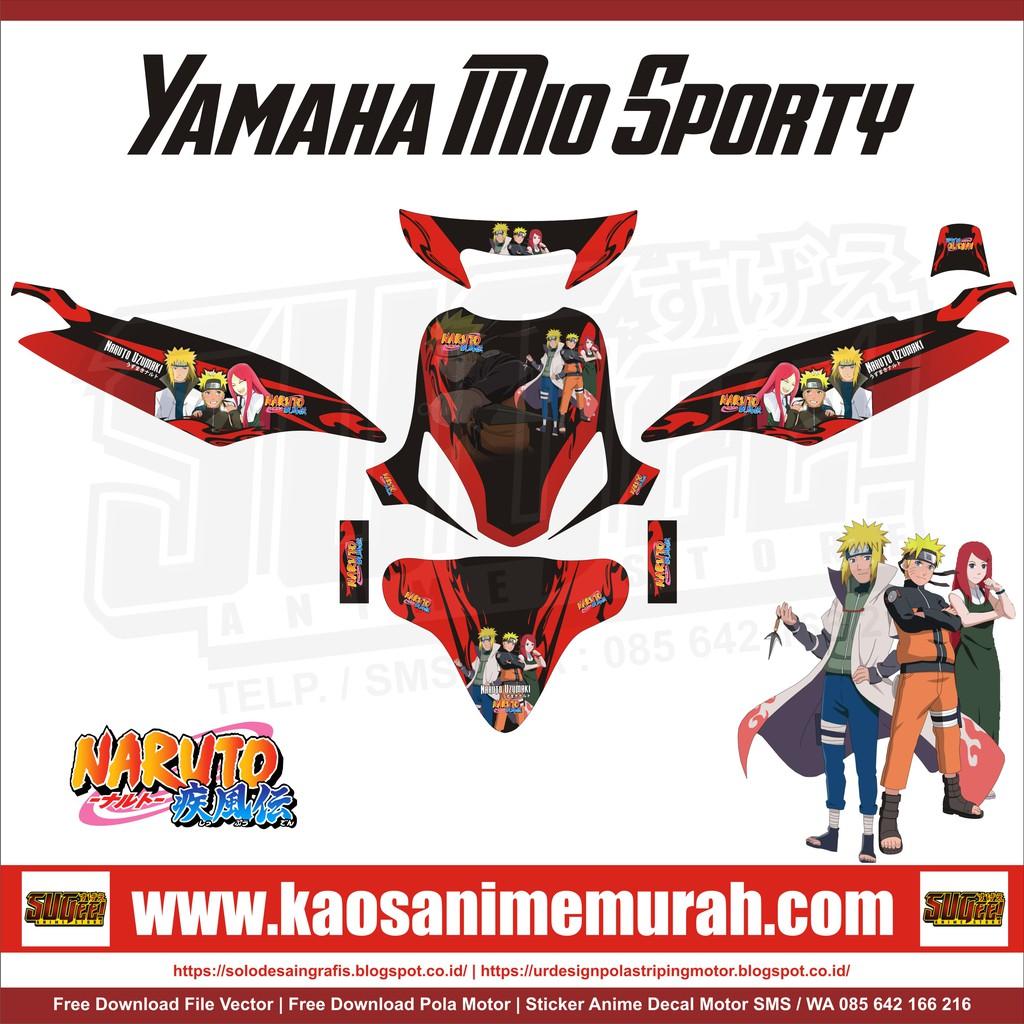 Sticker anime decal motor yamaha mio sporty naruto shopee indonesia