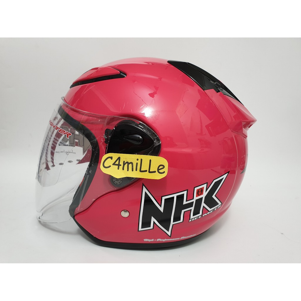 Helm Nhk R6 Motif Rally 2 Black Gold Glossy Hitam Half Face Cargloss Yr Ghotic Slide Ice Blue Biru Muda Size L Shopee Indonesia