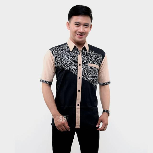 Model Baju Batik Pria Kombinasi Terbaru Shopee Indonesia
